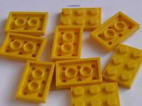 Lego 2 barrières jaunes 1x2x4