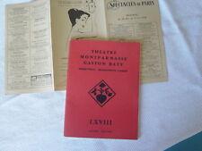programe theatre montparnasse gaston baty 1957-1958 le journal d'anne frank