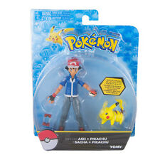 "Tomy Pokemon Ash and Pikachu 5"" Hero Action Figure US Seller USA Authentic"