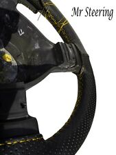 PERFORATED LEATHER STEERING WHEEL COVER YELLOW ST FOR MERCEDES ACTROS NEW 2012+