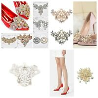 Pearl Rhinestone Shoes Clip Sew Iron on Applique DIY Bridal Wedding Party Decor