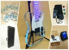 Haze 218P Clear Acrylic See-Thru Electric Guitar w/LED Lights+Deluxe Hard Case