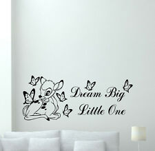 Bambi Wall Decal Deer Butterfly Nursery Vinyl Sticker Disney Poster Quote 348xxx