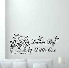 Bambi Wall Decal Deer Butterfly Nursery Vinyl Sticker Disney Poster Quote 348xxx
