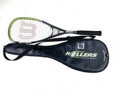 Wilson Hyper Hammer Overdrive Squash Raqueta de rodillos de carbono Raqueta Con Estuche