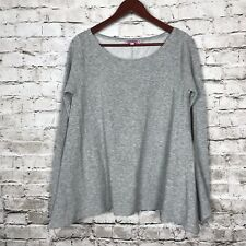 Calypso St. Barth M Medium Knit Top Gray Womens Long Sleeve Silk Blend