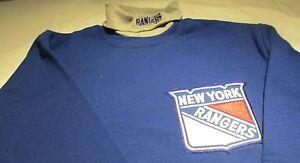 New York Rangers Turtle Neck Sweatshirt Medium  Majestic NHL Hockey 50/50