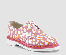 Dr. Martens Women`s 1461 Leopard Print Candy Pink White US 9 EU 41 UK 7 Ret.$130