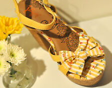 Jelly Pop Women's Shoes Sandals Platforms Bow size Calla Yellow 8.5 NEW in box