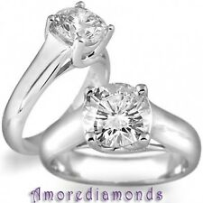 1.05ct round brilliant natural diamond solitaire lucida engagement ring platinum
