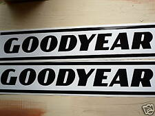 GOODYEAR Extra Large Black & White Stripes car stickers