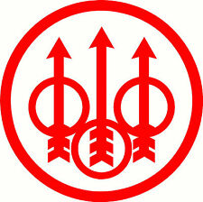 SALE Red Beretta Logo, Tacklebox Sticker Decal 125 x 125mm