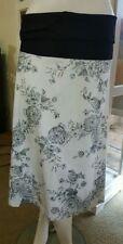 High Waist Knee-Length Floral Skirts for Women