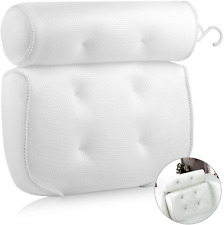 Extsud Bathroom Pillow, Non-Slip 6 Large Suction Cups, Waterproof Home Bath Spa,