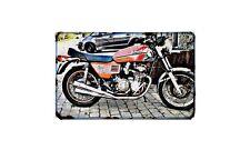 Benelli Quatro Motorbike Sign Metal Retro Aged Aluminium Bike