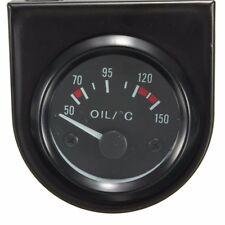 "Universal Car Black Pointer Oil Temperature Temp Gauge 50-150℃ LED Light 2"""