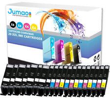20 cartouches Jumao compatibles pour Canon Pixma TS5050 5055 6050 6051 6052