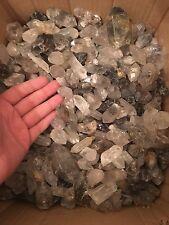 5lb Wholesale Tibetan Quartz Crystals Black Inclusions Bulk Point Tibet