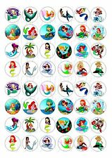48 MINI MERMAIDS CUPCAKE TOPPERS ICED ICING FAIRY CAKE BUN TOPPERS