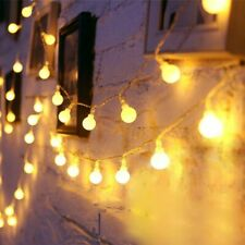 Lights Decor Wedding Party USB/Battery Power LED Ball Garland Waterproof Outdoor