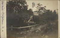 Wolfeboro NH Old Mill c1910 Real Photo Postcard