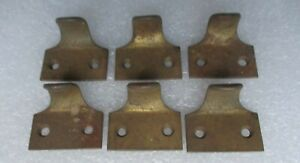 lot of 6 VINTAGE BRASS FINISH CAST IRON WINDOW SHUTTER LIFTS FILE DRAWER PULLS