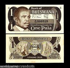BOTSWANA 1 PULA P6 1983 PRESIDENT KHAMA COW ZEBRA UNC ANIMAL WILDLIFE MONEY NOTE