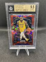 2019-20 Panini Prizm Red Ice Prizm Lebron James BGS 9.5 True Gem With 10 Lakers
