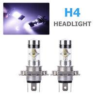 2x H4 Cree LED 6000K 100W 20SMD Super Brouillard Lampe Blanc Brillant Ampoule