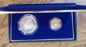 1987 Constitution Coins Proof Silver $1 & Gold $5 Dollar Commemorative (008)