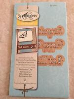 Spellbinders D-Lites Die ~ Sentiments One 3 Templates ~ S2-082 New