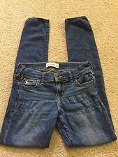 Abercrombie Girls Size 12 Jeans Dark Wash Skinny Jeggings Stretch Denim