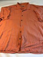 Tommy Bahama Silk Button Down Shirt Men's 2XL