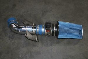 86-93 MUSTANG GT BBK Chrome Cold Air Cleaner Intake 5.0L Blue Filter MAF