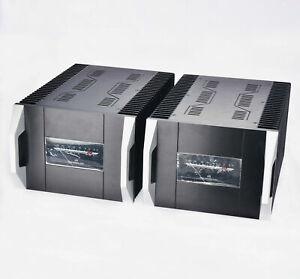 1 pair Full Aluminum class A amplifier chassis VU meter Amp case heatsink MC2620