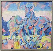 Ölgemälde von Karl Schricker 1912-2006 Die Zuweisung orig. Rahmen