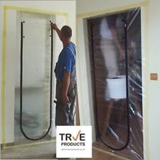 True Products Dust Stop Zip Door Kit Renovation Protection House - for easy