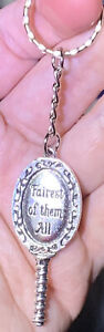 Silver Snow White Fairest Of Them All Mirror Pendant On a Silver Split Keychain!