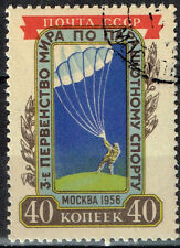 Russia Soviet Airforce Paratrooper stamp 1956