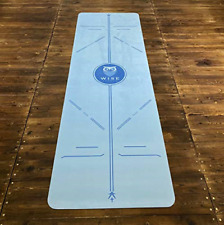 Eco Friendly Yoga Mat - Microfiber and Sustainable Rubber - Blue