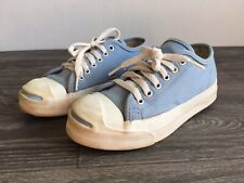 Vtg CONVERSE  Shoes Jack Purcell Blue Canvas Low Top USA Rare! Men 4 Women 6 EUC