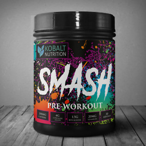 Kobalt Nutrition SMASH - Pre Workout (30 Servings) GYM PUMP ENERGY