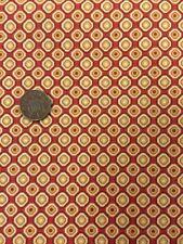 Makower Fabric Sarasa Geometric Orange 526 100% Patchwork Quilting Cotton