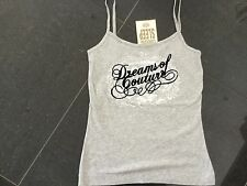 NWT Juicy Couture New & Genuine Ladies Small Grey Cotton Camisole & Juicy Logo