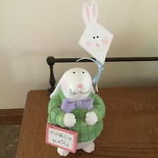 Sandi Gore Evans bunny rabbit. March Hare with bunny kite! 9-1/2� Great