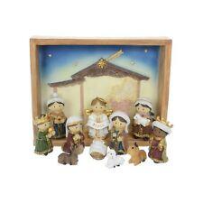 Modern Nativity Scene Set Crib Scene Christmas Xmas Decoration Festive Figure