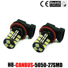 2x H11 27 SMD CANBUS FOG LIGHT LED BULBS ERROR FREE XENON WHITE H11 FOGLIGHT LED