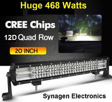 20 inch 468 Watt 4-row LED light bar for 4wd, off-road, car, truck, semi-trailer