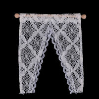 1:12 Dollhouse curtains miniature furniture valance with  WGJ mi