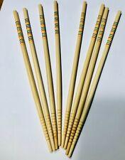 4 pairs WOODEN BAMBOO CHOPSTICK REUSABLEHandmade Wood Wooden Chopstick Set